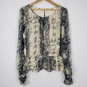 Walter Baker snake printed blouse